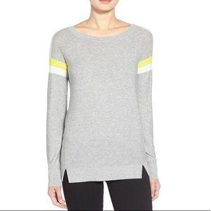 Trouve Striped Crewneck Colorblock Sweater Sz M